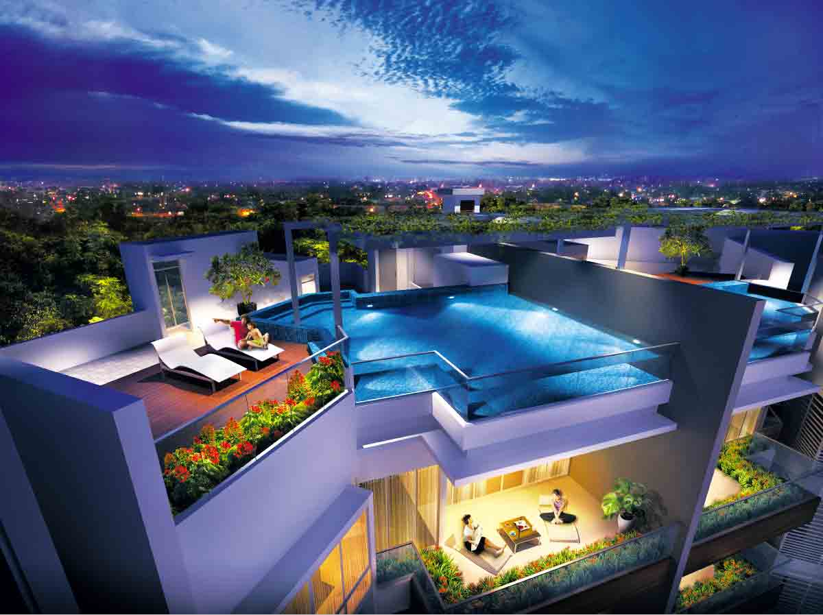 Penthouse with Private Roof Garden and Pool [Artist Impression]