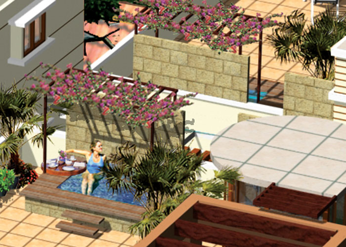 Outdoor Jacuzzi [Artist Impression]