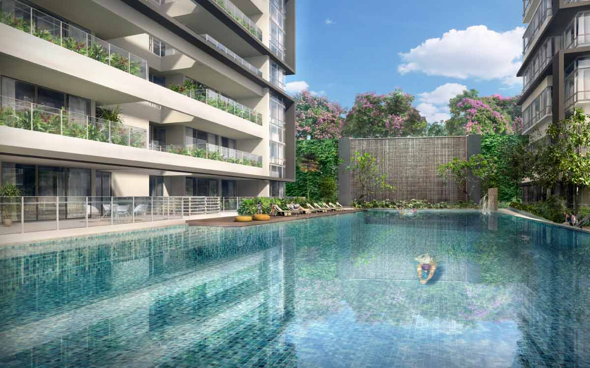 Lap Pool + Hydromassage Pool [Artist Impression]